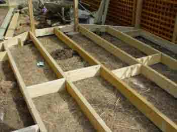 How to build a decking frame decking joist sub deck base for Ready made decking frame