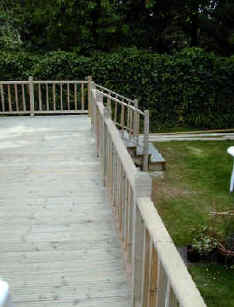The finished deck with balustrades